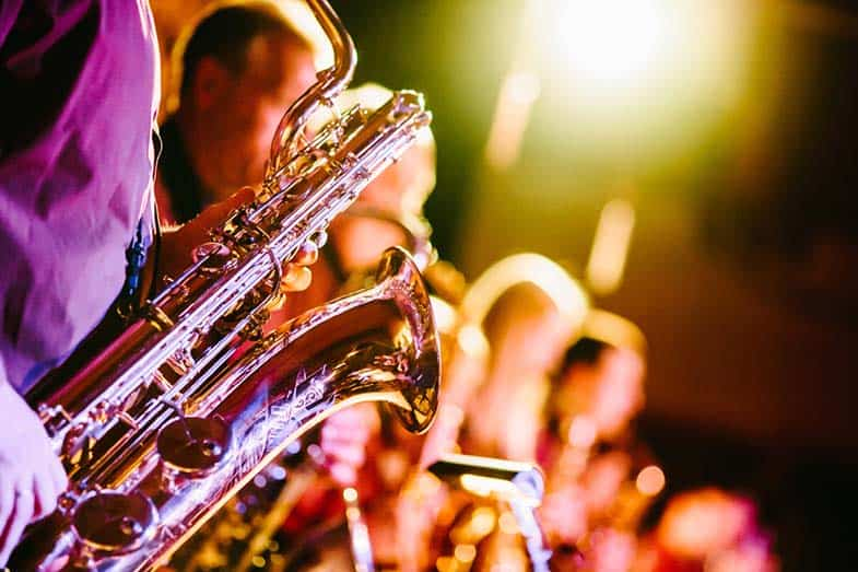 which instrument is least common in jazz music
