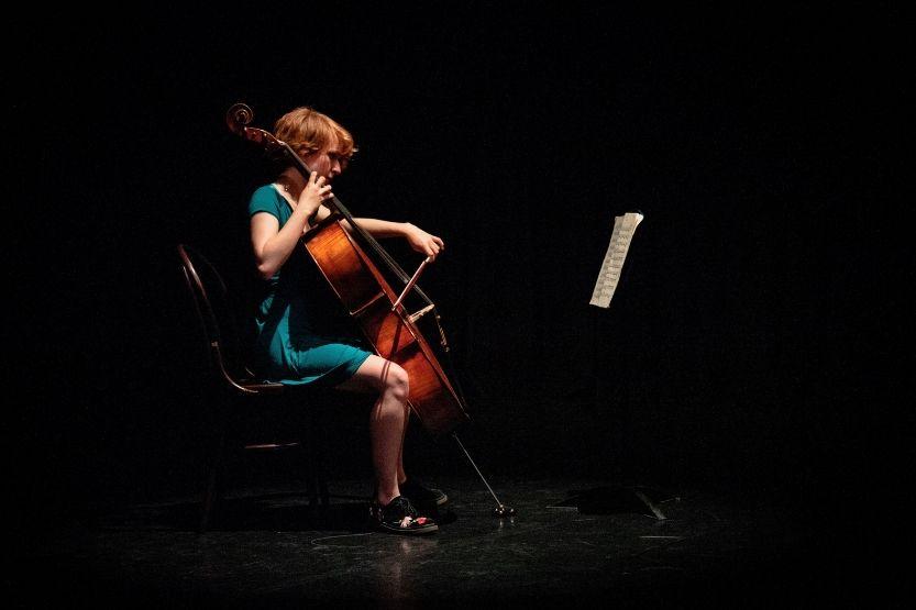 left-handed cello