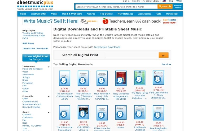Sheet Music Plus review